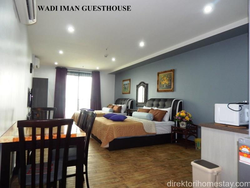 The studio suite with one bathroom and a balcony. 481 square feet. Larger than hotel room but with lower rate.